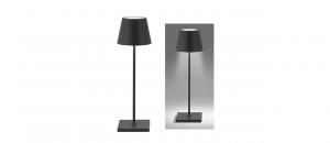 Lampada da tavolo grigio scuro Led ricaricabile cm.38h diam.10