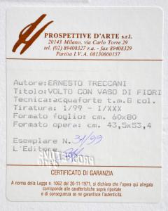 TRECCANI ERNESTO Acquaforte originale Formato cm 60x80