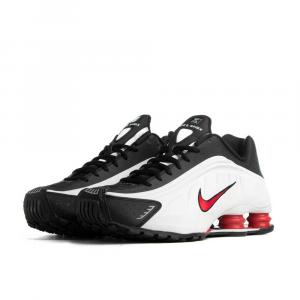 Nike Shox R4 Platinum-University Red da Uomo