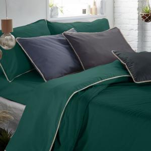 Set Completo Lenzuola con Fodera per Cuscino 50x80, Volant in Tinta Unita, Morbido Cotone 100% Naturale, Tessuto Anallergico | FRANGIA