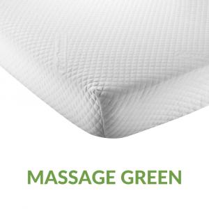 Coprimaterasso Rilassante & Massaggiante, Tessuto in Fibra Silver Anallergico e Antimicrobico | MASSAGE GREEN