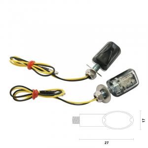 404120005 COPPIA FRECCE A LED NERE OMOLOGATE