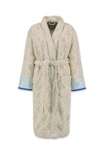 Shawl terry bathrobe PIP STUDIO Jacquard Check khaki