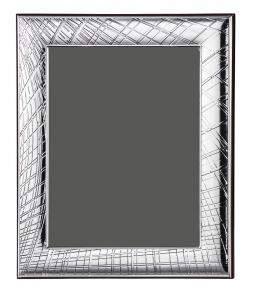 Cornice portafoto in argento 13x18 bordo effetto ragnatela cm.18x13