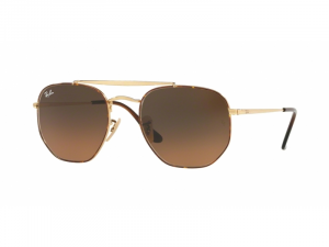 Ray Ban - Occhiale da Sole Unisex, The Marshal, Havana Gold/Brown Shaded RB3648 910443  C54