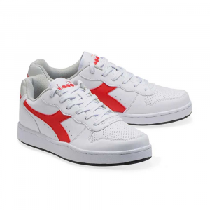 Diadora Playground White Dark Red Unisex
