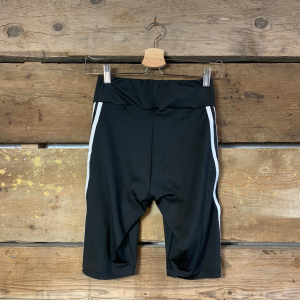 Pantalone Adidas a Ciclista Nero con Bande Bianche