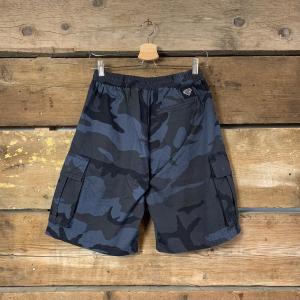 Pantaloncino Iuter Cargo con Tasche Blu Camouflage