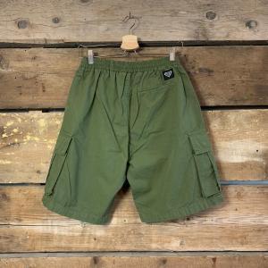 Pantaloncino Iuter Cargo con Tasche Verde Militare