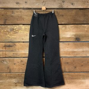 Pantalone Nike Sportswear a Palazzo in Tessuto Puntinato Nero
