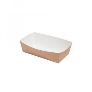 Vaschetta per fritti in cartoncino bio 14x7x4,5 cm avana