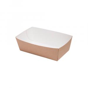 Vaschetta per fritti in cartoncino bio 14x8x5,5 cm avana