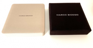 GIROCOLLO MINI MARRAKECH MARCO BICEGO IN ORO BIANCO CON 5 DIAMANTI