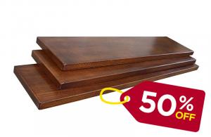 Set 3 mensole in legno 90 cm - OFFERTA