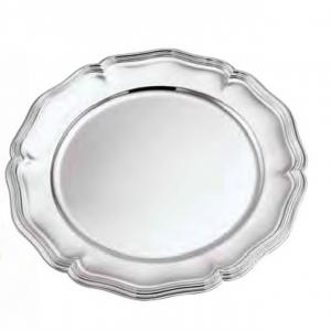 Sottopiatto argentato argento stile 700 cm.diam.30