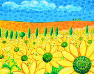 SCIARRANO MIMMO Serigrafia polimaterica Formato cm 50x140