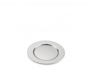Piattino tondo in metallo placcato argento cm.diam.20