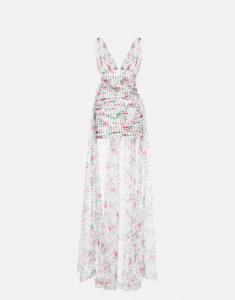 Minidress in chiffon con strascico PHILOSOPHY