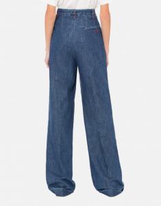 pantalone flare in chambray effetto denim PHILOSOPHY