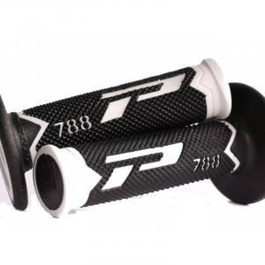 6-788WNT MANOPOLE PROGRIP 788 BIANCO/NERO OFFROAD/SUPERMOTARD 115 MM 22-24 mm