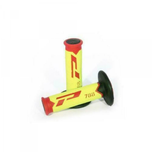 6-788/FRYN MANOPOLE PROGRIP 788 ROSSO/GIALLO FLUO/NERO OFFROAD/SUPERMOTARD 115 MM 22-24 mm