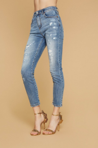 SHOPPING ON LINE ANIEY BY JEANS HIGH SKINNY LOREN  NEW COLLECTION WOMEN'S SPRING SUMMER 2020