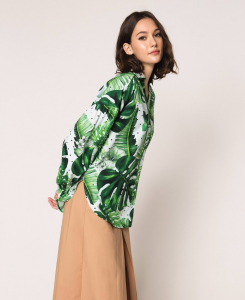 SHOPPING ON LINE TWINSET MILANO CAMICIA IN POPELINE STAMPATO NEW COLLECTION  WOMEN'S SPRING SUMMER 2020