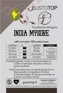 Caffè monorigine India Mysore per moka ed espresso confezione da 250 gr
