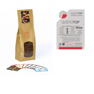 Miscela di caffè in grani GustoTop ( 85% arabica 15% robusta) confezione da 1kg, 500gr e 250gr