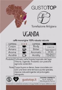 Caffè monorigine in grani Uganda Naturale confezioni disponibili: 1kg, 500 gr e 250 gr