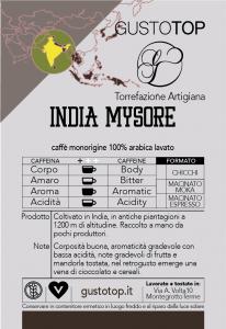Caffè monorigine in grani India Mysore confezioni disponibili: 1 Kg, 500 grammi e 250 grammi