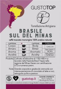 Caffè monorigine in grani Brasile Sul de Minas confezione da 1 Kg
