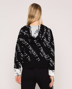 SHOPPING ON LINE TWINSET MILANO MAGLIA CON LOGO JACQUARD ALL OVER NEW COLLECTION  WOMEN'S SPRING SUMMER 2020