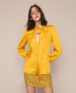 SHOPPING ON LINE TWINSET MILANO CAMICIA JACQUARD DISEGNO COCCODRILLO NEW COLLECTION  WOMEN'S SPRING SUMMER 2020