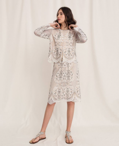 SHOPPING ON LINE TWINSET MILANO GIACCA COREANA IN PIZZO NEW COLLECTION  WOMEN'S SPRING SUMMER 2020
