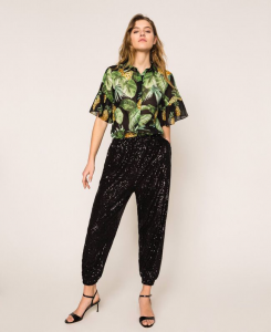 SHOPPING ON LINE TWINSET MILANO CAMICIA IN MUSSOLA DI COTONE CON STAMPA ANANAS  NEW COLLECTION  WOMEN'S SPRING SUMMER 2020