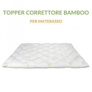 Topper Correttore Materasso Alto 7 cm in Memory Foam con Fodera in Fibra Bambù | Modello BAMBOO