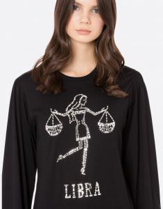 T-shirt manica lunga Libra Alberta Ferretti