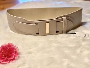 Cintura Nalì alta Avorio con dettaglio elastico