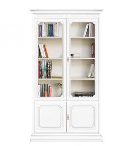 Mueble vitrina madera lacada 4 puertas