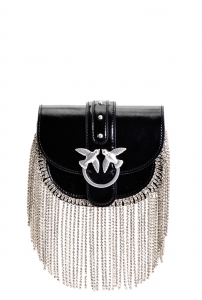 SHOPPING ON LINE PINKO BAG STRASS FRINGES IN PELLE BABY GO-ROUND NEW COLLECTION WOMEN'S SPRING SUMMER 2020