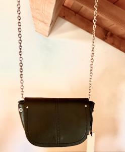 Marsupio Nalì metallico nero con opzione borsetta