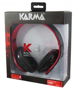 Karma Italiana K8 cuffia e auricolare Cuffie Padiglione auricolare Nero, Rosso