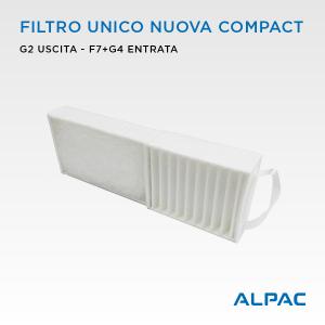 Filtro unico per Alpac Nuova Compact / Climapac VMC Nuova Compact, Aliante, Arias / Helty Flow Easy, Plus, Elite, Flow40