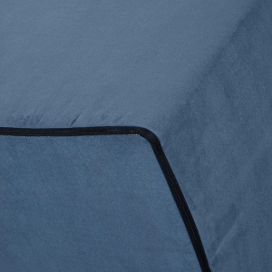 Pouf Letto con Rivestimento Sfoderabile trasformabile in Confortevole Materasso Singolo 80x190 WaterFoam alto 15 cm, Pieghevole, 3 Pezzi MULTIUSO e Salvaspazio