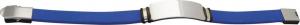 Bracciale in acciaio e silicone blu cm.21x1,5x1h