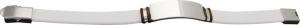 Bracciale in acciaio e silicone bianco cm.21x1,5x1h