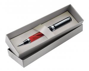 Scatola in cartoncino argento per penna
