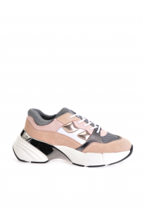 SHOPPING ON LINE PINKO SNEAKERS IN SUEDE E PELLE LAMINATA RUBINO 3  NEW COLLECTION WOMEN'S SPRING SUMMER 2020