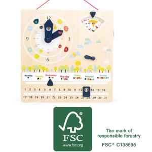 Lavagna didattica calendario - orologio Educate